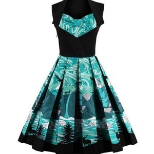 Dresses & Skirts - Vintage style print fit and flare dress